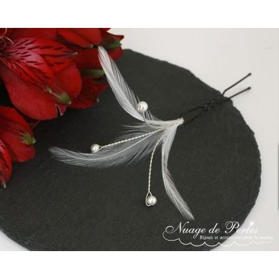"""collier """"Lena"""" en perles et fleurs de soie"""