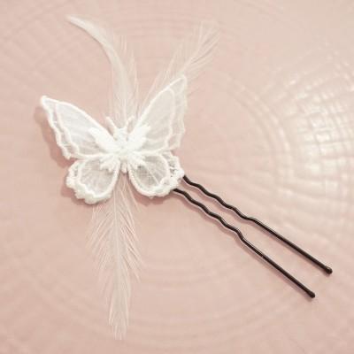 """""""Amelina"""" collier de mariage à fleurs"""