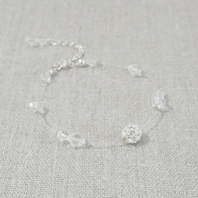 bracelet de mariage strass perles